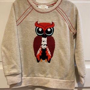 "Kate Spade Kids ""Who Me?"" Owl Sweatshirt Sweater 4"